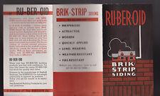 Ru-Ber-Oid Brik-Strip Siding Ad Brochure 1935