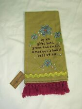 NWT NATURAL LIFE EMBROIDERED TEA TOWEL A MOTHERS LOVE