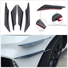 4Pcs Car Bumper Splitter Canards Carbon Fiber Color Fin Body Spoiler Sport Style