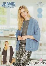 STYLECRAFT 9361 JEANIE/DENIM LOOK JACKET/COAT ORIGINAL KNITTING PATTERN