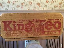KING LEO Vintage WOODEN FRUIT CRATE  Fruit & Produce Bakersfield CA Leo Gagosian