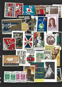 SHEET OF MIXED CINDERELLA/POSTER STAMPS - CONDITIONS VARY.