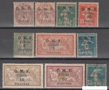 FRENCH COLONIES, (CILICE) 1910. Lot of 10 mint stamps Overprint