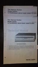 harman kardon cd291 service manual supplement stereo tape player original 2 book