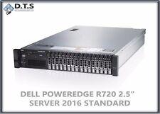 Dell PowerEdge R720 16SFF 2x E5-2680v2 10core 24GB H710 2x100GB SSD SERVER 2012