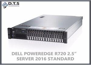 Dell PowerEdge R720 16SFF 2x E5-2660 8core 48GB H710 2x600GB SERVER 2016 COA