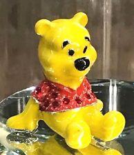 Disney Parks Winnie the Pooh Figurine by Arribas Swarovski Jeweled Mini NIB