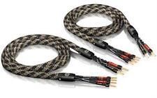 2 x  5,0m ViaBlue SC-4 bi-wire Lautsprecherkabel crimped mit Aderendhülsen NEU