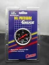 "Vintage NOS CHROME 2"" Mechanical Oil Pressure Gauge (0-100) CHEVY FORD HOTROD"
