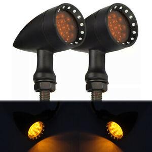 For Honda Shadow VLX 600 VT750 VT1100 Motorcycle LED Turn Signals Lights Black