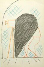 "JEAN COCTEAU mounted ltd ed original Mourlot lithograph, 1957, 12 x 10"" JC02"