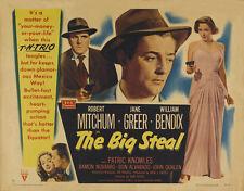 The Big steal Robert Mitchum vintage movie poster print #11