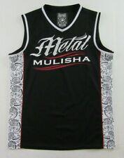 METAL MULISHA Embroidered Logo Black Sleeveless V-Neck Tank Top Jersey Size L
