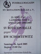 Programm 2004/05 SV Rotation Halle - BW Schortewitz