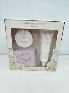 Adrienne Vittadini Studio Gift Set Foot Care Collection Foot Lotion Foot Scrub