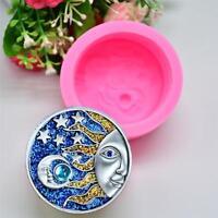 Sun Moon Faces Silicone Soap Molds Craft DIY Handmade Soap Bake Mould Tool Decor