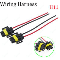 2Pcs H11 H8 Female Adapter Wiring Harness Sockets Wire For Headlights Fog Light