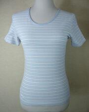 Modisches MARC O`POLO Kurzarm  Shirt, Top Baumwolle weiß-blau-gestreift    Gr. L