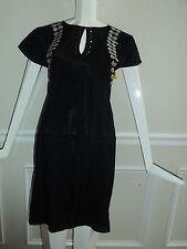NEW ST.JOHN (SOCA) BEAUTIFUL  BLACK JEWEL DRESS S- S