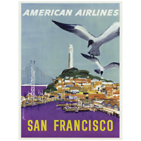 American Airlines Vintage Poster of San Francisco 18x24