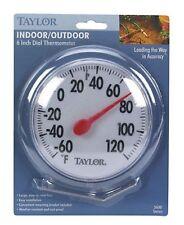 "Taylor Indoor/Outdoor Thermometer 6"" diameter"