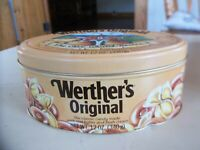 Werther's Original Old World Recipe Butter Cream Candy Oval Collectible Tin