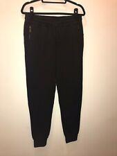 eleven paris Rick W Black Cotton Jogger Pants size medium