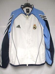 Veste REAL MADRID 2006 ADIDAS jacket track football chaqueta époque ZIDANE 180 L