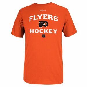Philadelphia Flyers Reebok Center Ice Authentic Team Logo Orange T-Shirt Men's