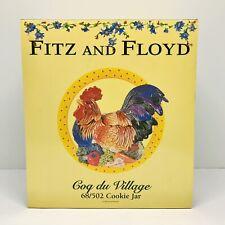 Vintage Fitz and Floyd Coq Du Village Rooster Cookie Jar 68/502 New 2000