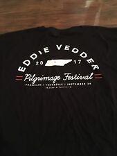 Eddie Vedder XL 2017 Pilgrimage Festival Concert Shirt Pearl Jam NEW 9-24-17