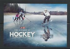 2017 The History of Hockey Souvenir Sheet of 2 Mint NH Joint Issue with Canada