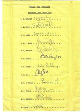 Signed Team Sheets