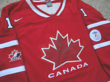 Authentic Olympics Team Canada Roberto Luongo Hockey Jersey Youth Vancouver L/XL