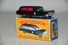Custom Matchbox RW 54 S&S Cadillac Leichenwagen + Box boxed Code 3 Hearse Corpse