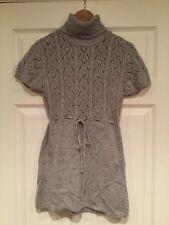 Michael Kors Gray Angora Blend Turtleneck Sweater, Size M