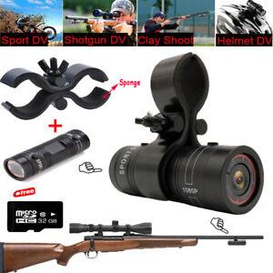 For Shotgun Rifle With Gun Clip Mini Sports Action Camera 1080P Helmet DV DVR F9