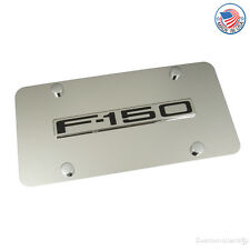 Ford F-150 Chrome Name On Stainless Steel License Plate