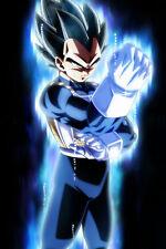 Dragon Ball Super Poster Vegeta Ultra Instinct half body 12inx18in Free Shipping