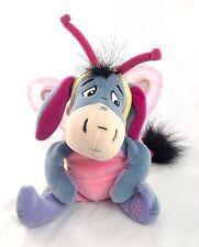 "Disney BUTTERFLY EEYORE 8"" Bean Bag Plush Stuffed Animal Winnie Pooh SPRING 2000"