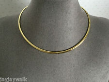 """HEAVY GOLD PLATED """"OVAL"""" COLLAR"""