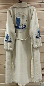 Antique Vintage Embroidered Kimono Oriental Japanese Chinese Robe House Coat