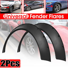 Black 2X Auto Car Body Fender Flares Flexible Durable Polyurethane Kit Universal