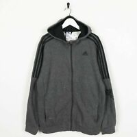 Vintage ADIDAS Small Logo Zip Up Hoodie Sweatshirt Grey | Medium M | Grade B