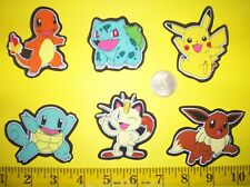 New! Cool! Pokemons IRON-ONS FABRIC APPLIQUES IRON-ONS