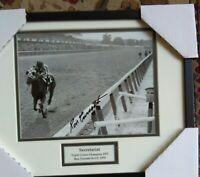 Secretariat photograph BELMONT Ron Turcotte autograph HEAD ON Prof. frame SIGNED