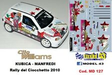 Renault Clio Williams - R.KUBICA - Rally Ciocchetto  2010 - DECAL