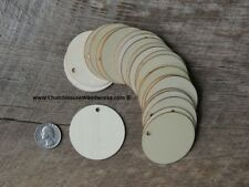 25 count 2 inch wood TAG Circle shape DIY 2 inch wooden coin craft round