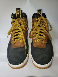 Nike Lunar Force 1 Duckboot Baroque Brown and Black 805899 004 Men 9.5