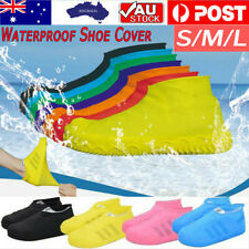 2X WATERPROOF SHOE COVER Silicone Non Slip Rain Water RUBBER Foot Boot Overshoe